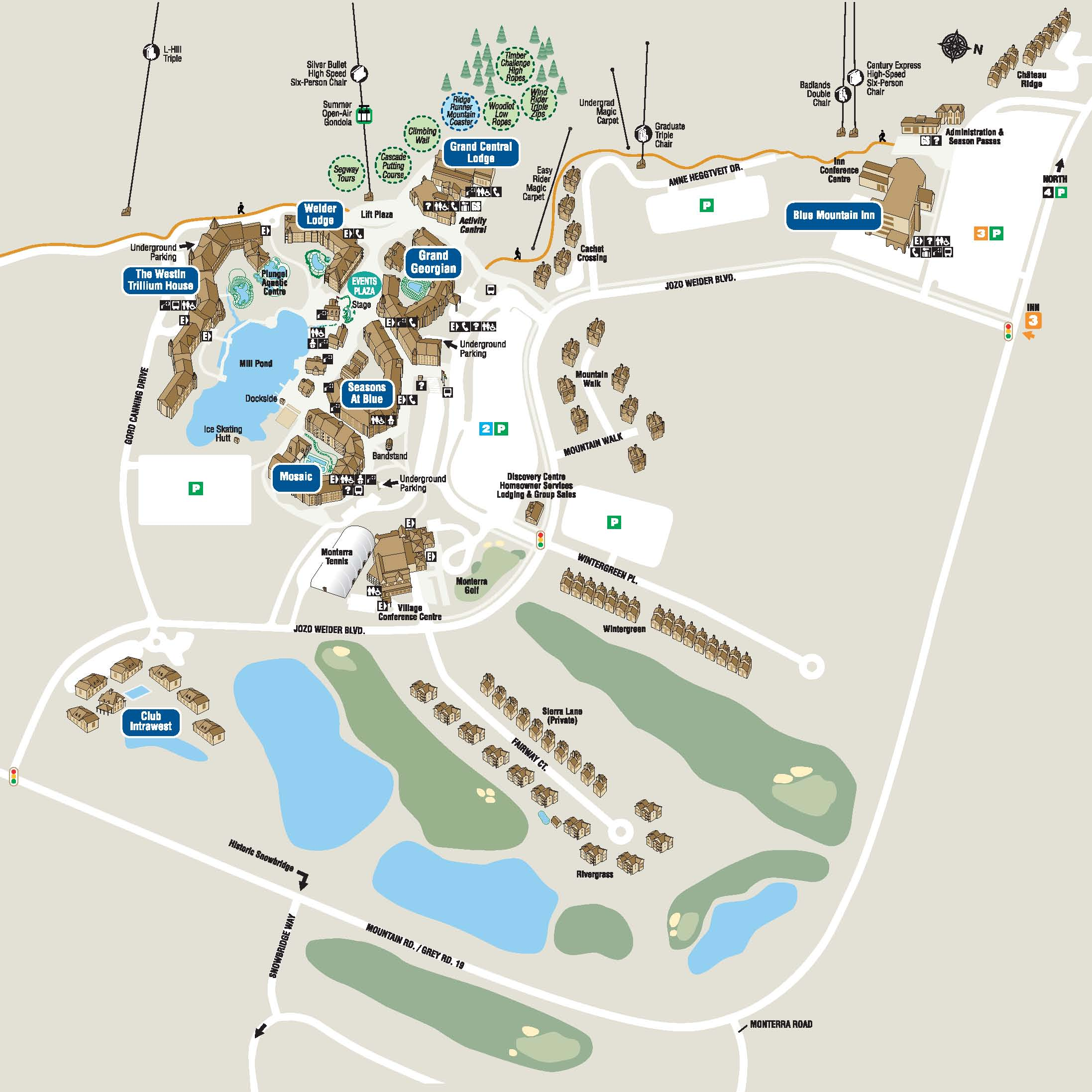 Blue Mountain Resort Map